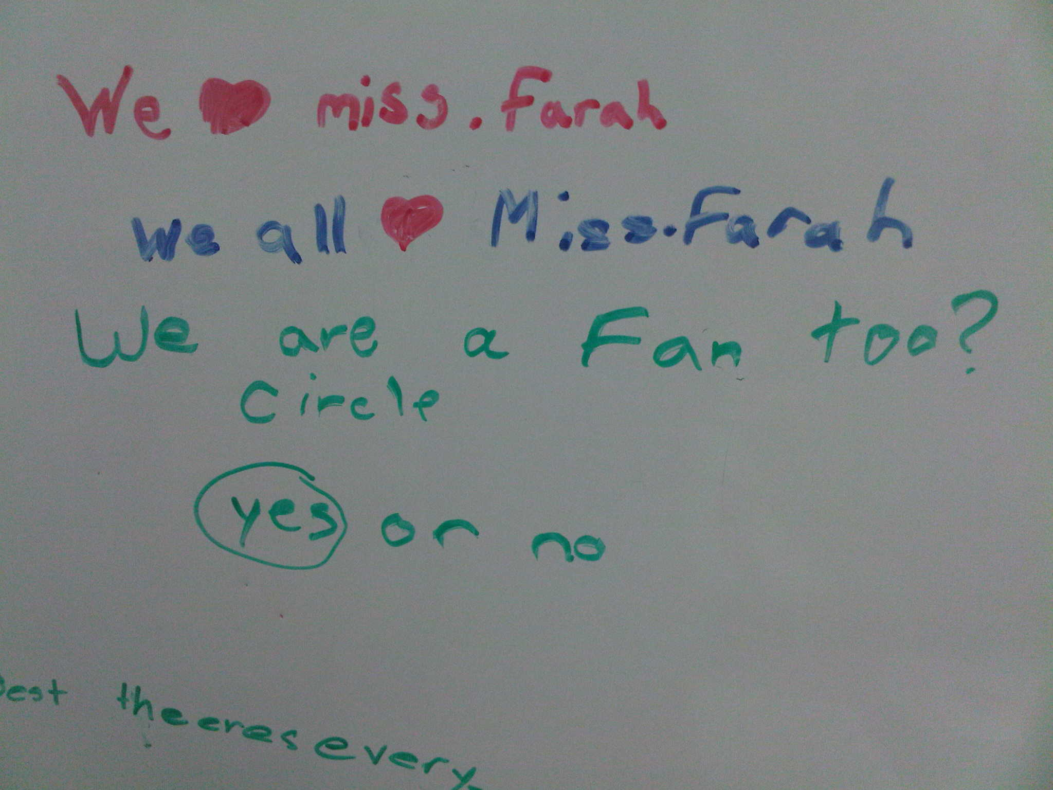A Cute Note From My Students Miss Farah Tutorials