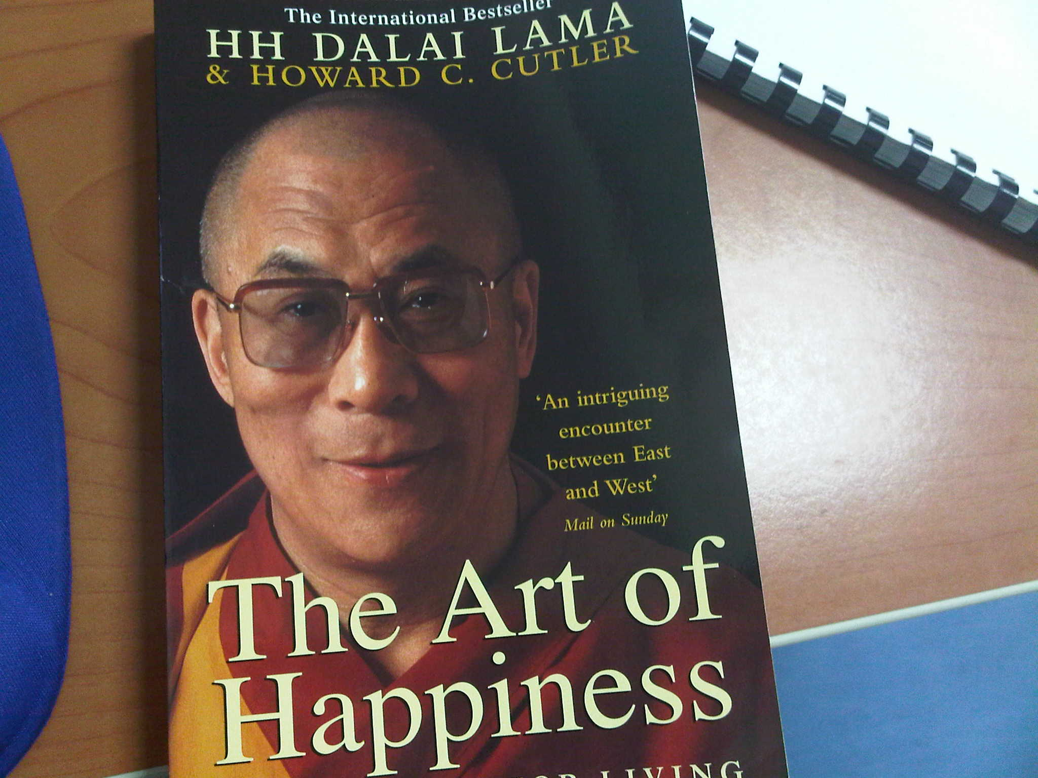 """Miss Farah is reading """" The Art of Happiness"""""""
